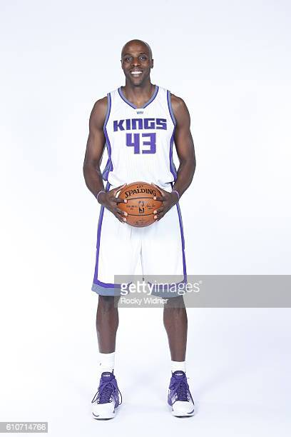 Anthony Tolliver of the Sacramento Kings poses for a portrait on NBA media day on September 26 2016 at the Kings practice facility in Sacramento...