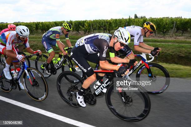 Anthony Turgis of France and Team TotalEnergies, Georg Zimmermann of Germany and Team Intermarché - Wanty - Gobert Matériaux, Simon Clarke of...