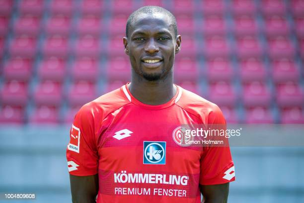 Anthony Ujah of 1 FSV Mainz 05 pose during the team presentation at Opel Arena on July 24 2018 in Mainz Germany