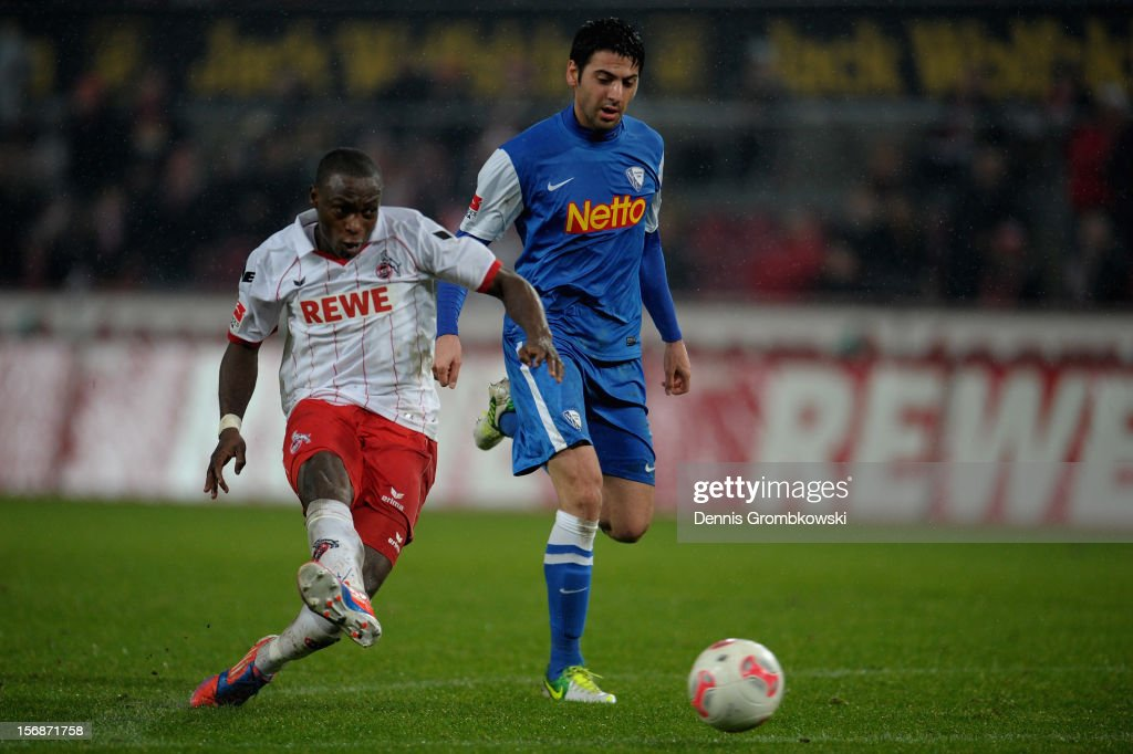 Anthony Ujah of Cologne scores his team's third goal during the Second Bundesliga match between 1. FC Koeln and VfL Bochum at RheinEnergieStadion on November 23, 2012 in Cologne, Germany.