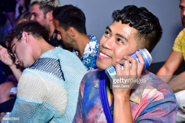 Anthony Urbano attends the Todd Snyder S/S 2019 Collection during NYFW Men's July 2018 at Industria Studios on July 11 2018 in New York City