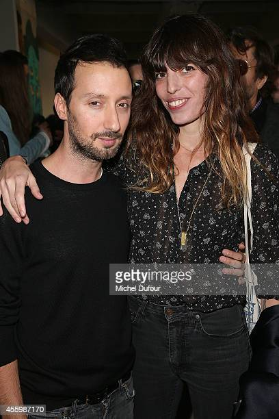 Anthony Vaccarello and Lou Doillon attend the Anthony Vaccarello show as part of the Paris Fashion Week Womenswear Spring/Summer 2015 on September...