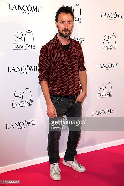 Anthony Vaccarello attends the Lancome 80th Anniversary Party as part of Paris Fashion Week Haute Couture Fall/Winter 2015/2016 on July 7 2015 in...