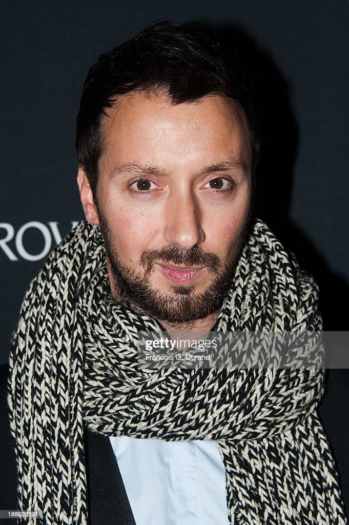Anthony Vaccarello attends the Swarovski Dinner In Honor of the Bouroullec Brothers at Chateau de Versailles on November 14, 2013 in Versailles, France.