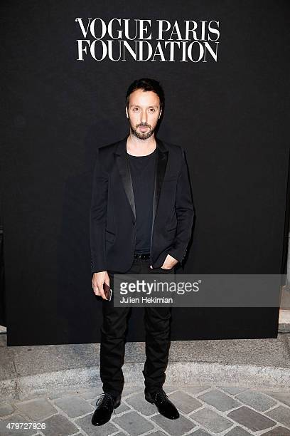 Anthony Vaccarello attends the Vogue Paris Foundation Gala at Palais Galliera on July 6 2015 in Paris France