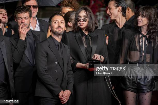 """Anthony Vaccarello, Beatrice Dalle and Charlotte Gainsbourg attend the screening of """"Lux Aetterna"""" during the 72nd annual Cannes Film Festival on May..."""