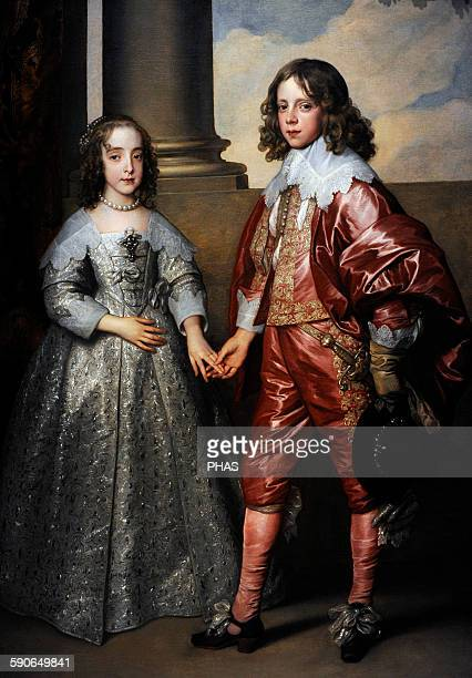 Anthony van Dyck Flemish painter William II Prince of Orange and his Bride Mary Stuart 1641 Rijksmuseum Amsterdam Holland
