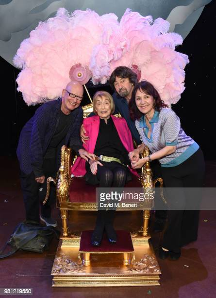 Anthony van Laast Dame Gillian Lynne Trevor Nunn and Arlene Phillips attend renaming of the New London Theatre to the Gillian Lynne Theatre on June...