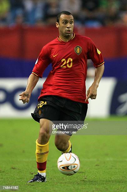 Anthony Vanden Borre of Belgium in action during the UEFA U21 Championship SemiFinal match between Serbia U21 and Belgium U21 at the Gelredome...
