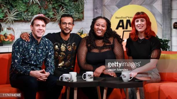 Anthony VenezialeUtkarsh Ambudkar and Aneesa Folds on October 9 2019 in New York City