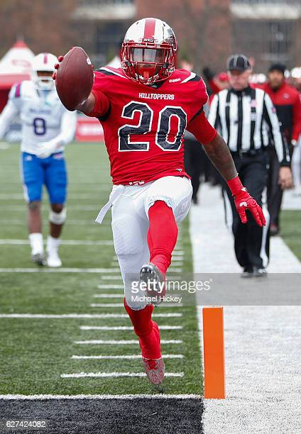 Anthony Wales of the Western Kentucky Hilltoppers scores a touchdown during the game against the Louisiana Tech Bulldogs at HouchensSmith Stadium on...