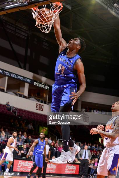 Anthony Walker of the Texas Legends dunks the ball against the Northern Arizona Suns during the NBA GLeague on March 21 2018 at Prescott Valley Event...