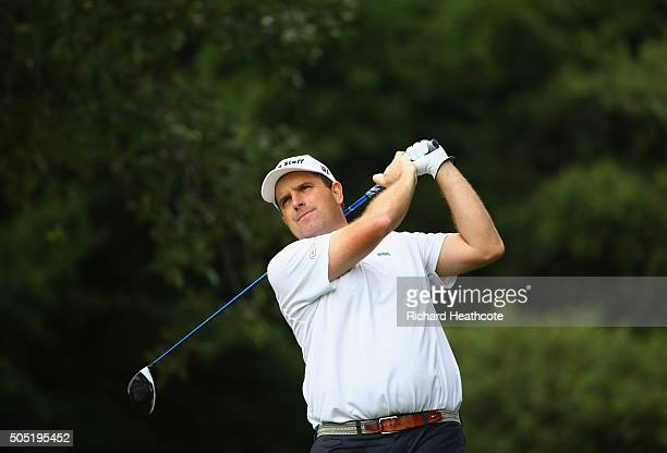 Anthony Wall of England tees off on the 6th hole on the East Course during day three of the Joburg Open at Royal Johannesburg and Kensington Golf...