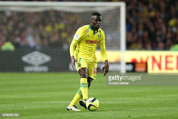 Anthony Walongwa of Nantes during the Football french Ligue 1 match between FC Nantes and SM Caen at Stade de la Beaujoire on May 7 2016 in Nantes...