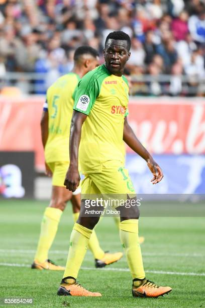 Anthony Walongwa of Nantes during the Ligue 1 match between Troyes Estac and FC Nantes at Stade de l'Aube on August 19 2017 in Troyes