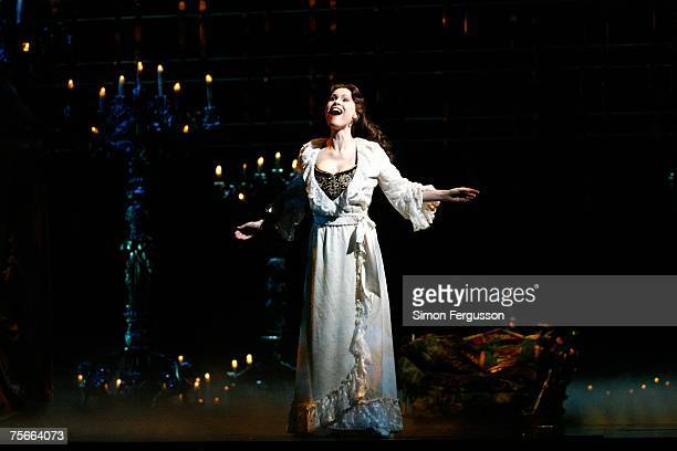 Anthony Warlow and Ana Marina cast members of The Phantom of the Opera perform on stage at the photo call for the new production of Broadway's...