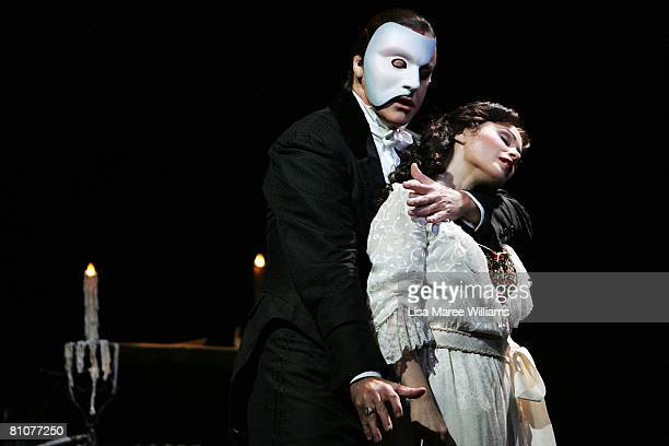 Anthony Warlow and Ana Marina perform on stage during a media call for The Phantom of the Opera at the Lyric Theatre on May 14 2008 in Sydney...