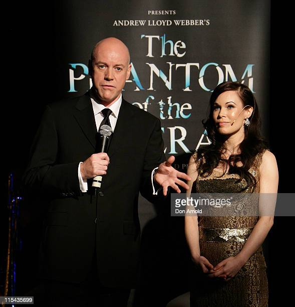"""Anthony Warlow and Anna Maria attend the photo call for the Sydney stage production of """"The Phantom Of The Opera"""" at Star City on October 22, 2007 in..."""