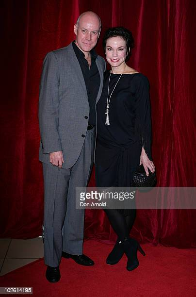 Anthony Warlow and Sigrid Thornton arrive for the opening night of West Side Story at Star City on July 4 2010 in Sydney Australia