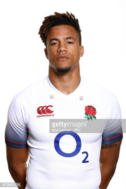 Anthony Watson of England poses for a portrait during the England Elite Player Squad Photo call at Pennyhill Park on November 6 2017 in Bagshot...