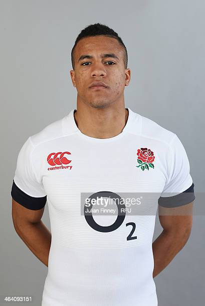 Anthony Watson of England poses for a portrait during the England Six Nations Squad Photo Call at the Penny Hill Hotel on January 20 2014 in Bagshot...
