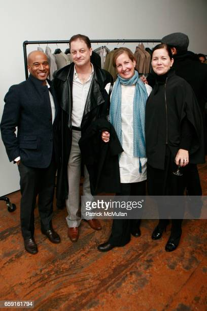 Anthony Watts guest guest and Laura Lendrum attend YSL Edition Unisex Boutique Opening at 55 Great Jones St on February 18 2009 in New York City