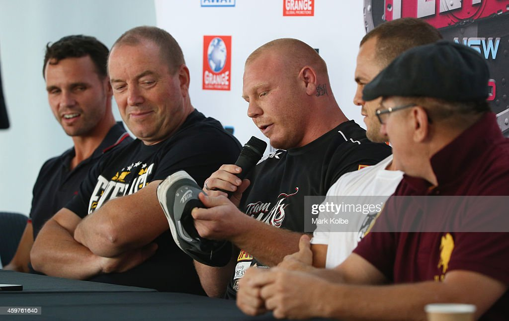 Anthony Watts speaks to the media during a press conference at the Hordern Pavilion on December 1, 2014 in Sydney, Australia.