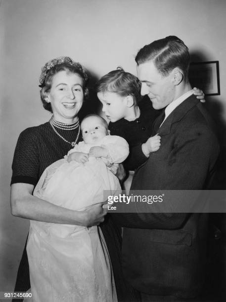 Anthony Wedgwood Benn the MP for Bristol South East leaves his London home for the christening of his son Hilary James Wedgwood Benn in the House of...