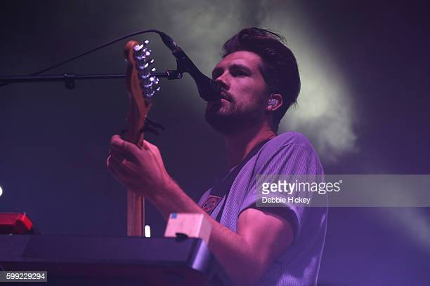 Anthony West of Oh Wonder performs at Electric Picnic Festival at Stradbally Hall Estate on September 4 2016 in Laois Ireland