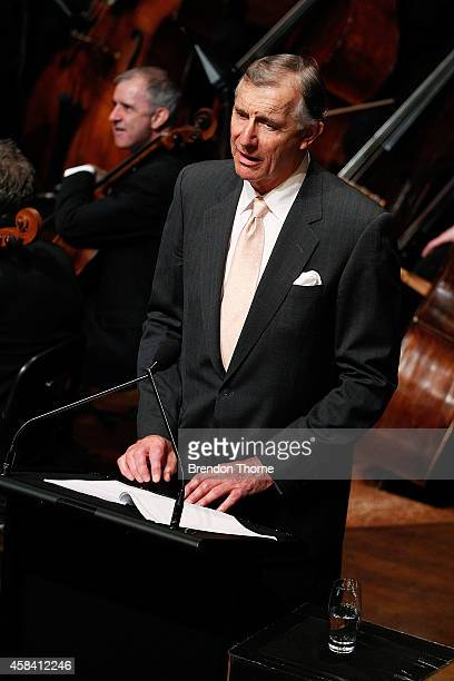 Anthony Whitlam speaks at the state memorial service for former Australian Prime Minister Gough Whitlam at Sydney Town Hall on November 5 2014 in...