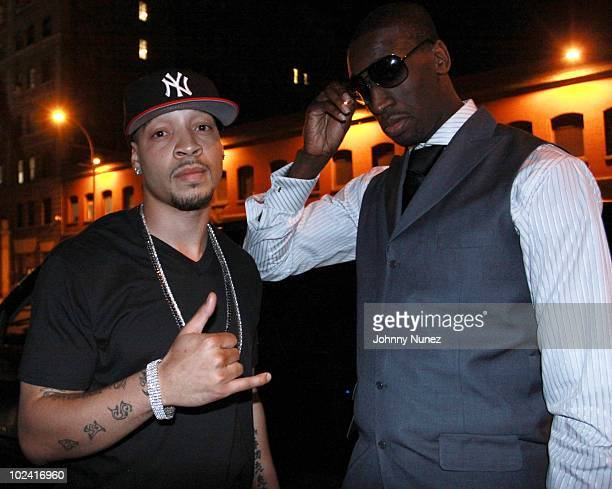 Anthony Wilderson and Ekype Udoh attend John Wall's NBA Draft celebration at Greenhouse on June 24 2010 in New York City