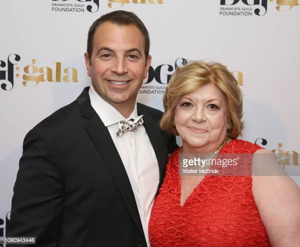 Anthony Wilkinson and Faith Hope Consolo attend the cocktail party for the Dramatists Guild Foundation 2018 dgf gala at the Manhattan Center Ballroom...