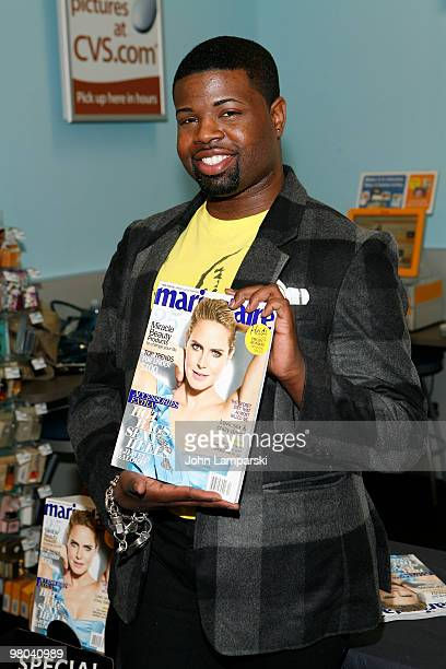 Anthony Williams Anthony Williams promotes Marie Claire's April 2010 issue featuring his garment on the cover at CVS on March 25 2010 in New York City