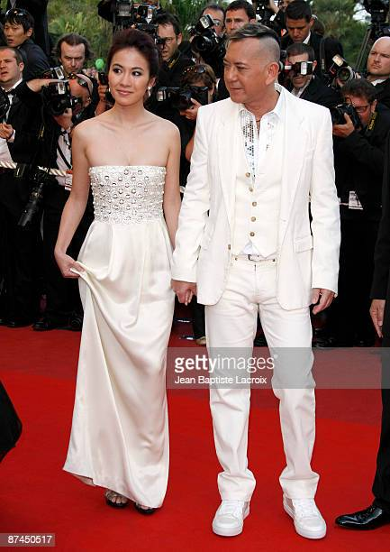 Anthony Wong and Michele Ye attend the Vengeance Premiere at the Grand Theatre Lumiere during the 62nd Annual Cannes Film Festival on May 17 2009 in...