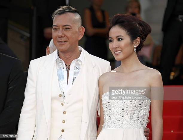 Anthony Wong and Michele Ye attends the premiere of ''Vengeance'' at the Grand Theatre Lumiere during the 62nd Annual Cannes Film Festival on May 17...