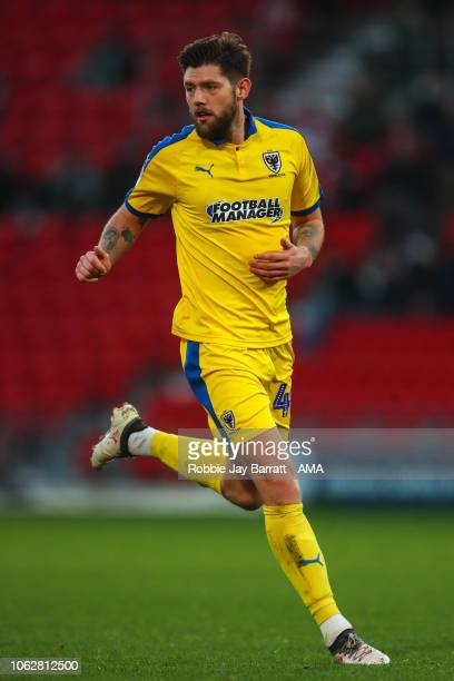Anthony Wordsworth of AFC Wimbledon during the Sky Bet League One match between Doncaster Rovers and AFC Wimbledon at Keepmoat Stadium on November 17...
