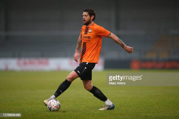 Anthony Wordsworth of Barnet during the Emirates FA Cup Second Round match between Barnet FC and Milton Keynes Dons at The Hive London on November...