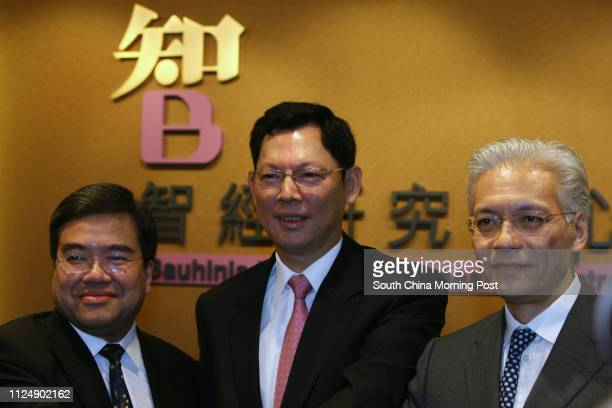 Anthony Wu Tingyuk Director of Bauhinia Foundation who is also the Chairman of Hopsital Authority Norman Chan Taklam Chairman of Bauhinia Foundation...