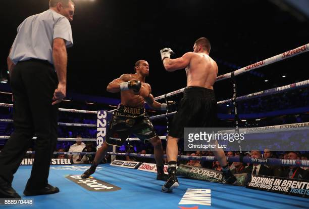 Anthony Yarde in action as he beats Nikola Sjekloca in the WBO Intercontinetal LightHeavyweight Championship fight at Copper Box Arena on December 9...