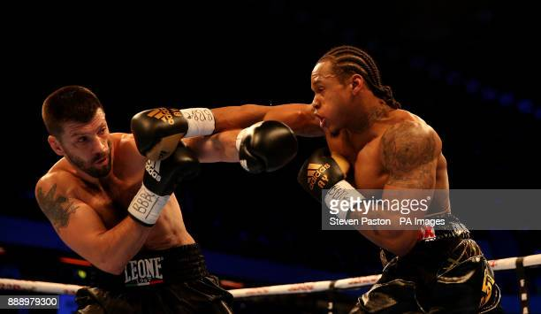 Anthony Yarde in action Nikola Sjekloca during their WBO Intercontinental LightHeavyweight Championship bout at the Copper Box London