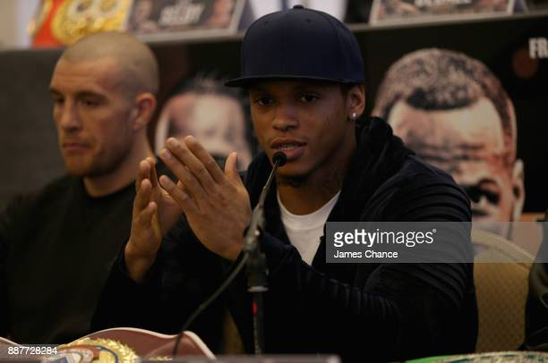 Anthony Yarde speaks to the media during a Boxing Press Conference at The Landmark London on December 7 2017 in London England