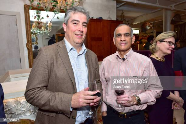 Anthony Ziccardi and Suresh Babu attend 'The Initiation' Book Launch at Bouley TK on March 15 2018 in New York City