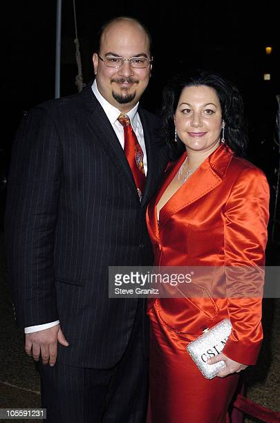 Anthony Zuiker and guest during 31st Annual People's Choice Awards Arrivals at Pasadena Civic Auditorium in Pasadena California United States