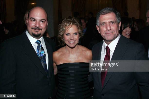 Anthony Zuiker Katie Couric and Leslie Moonves during The Museum of Television Radio Honors Leslie Moonves and Jerry Bruckheimer Inside at Regent...