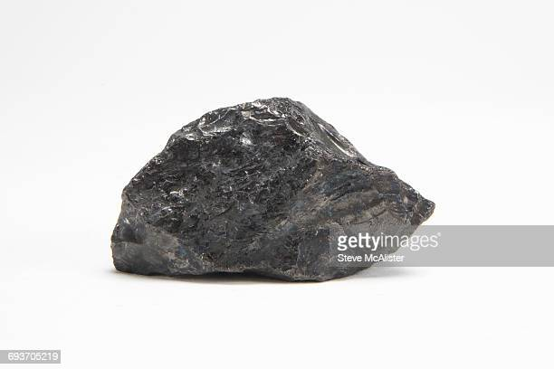 Anthracite Coal  on White Background
