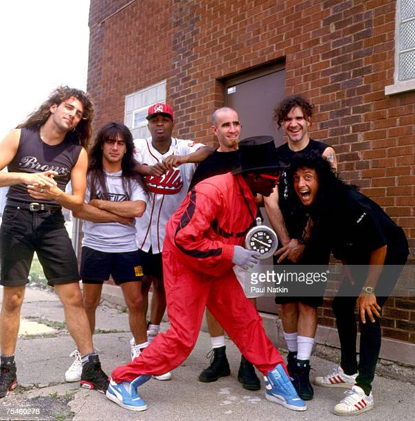 Anthrax and Public Enemy at a video shoot on 6/15/91 in Chicago Il
