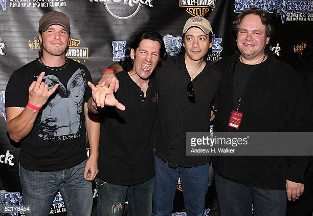 Anthrax's Dan Nelson and Frank Bello with White Lion's Vito Bratta and Eddie Trunk attend a celebration honoring Trunk's 25th Anniversary in radio...