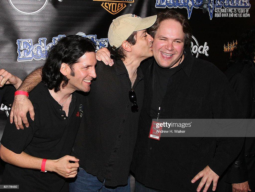 Anthrax's Frank Bello, with White Lion's Vito Bratta and