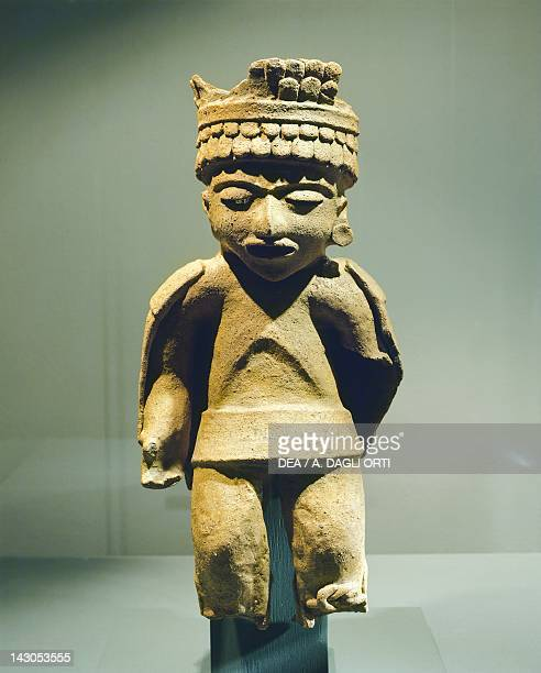 Anthromorphic figure in hollow burnished monochromic terracotta made from a mold height 503cm width 23cm From Comayagua Mayan Civilization recent...