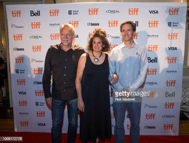 Anthropocene Directors from left Edward Burtynsky Jennifer Barchwal and Nicholas de Pencier Canadian Press Conference 2018 Toronto International Film...